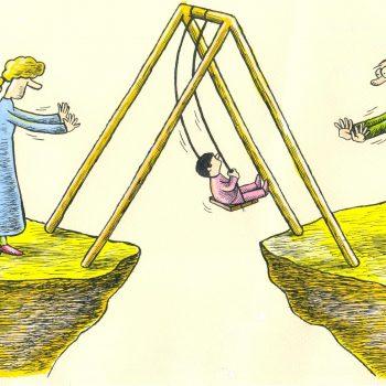 پدر و مادر بعد از طلاق با فرزند 2 350x350 - حقوق والدین در برابر فرزندان